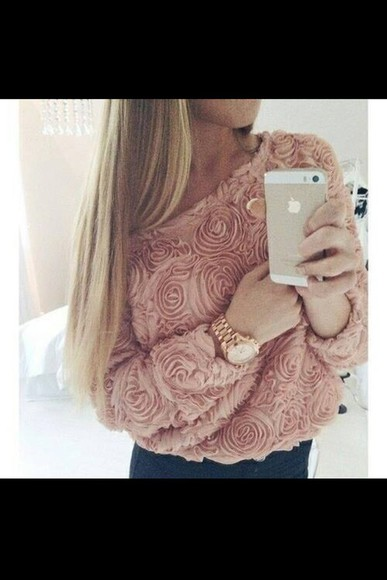 long sleeve rose