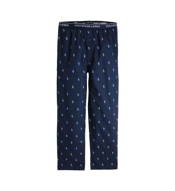 pantalon de pyjama logotyp all over polo ralph. Black Bedroom Furniture Sets. Home Design Ideas