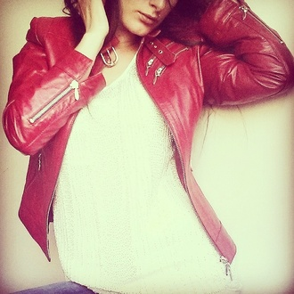 jacket red #jacket#need#want#fab redjacket leather jacket spring jacket summer jacket pearly top white top biker jacket short hack red jackets short red jackets danish designed danish copenhagen fashion hot jacket 2015 jacket 2015 collection new collection sneak peek scandinavian stile scandinavian danish fashion interteam leather collection given.dk given ??thank you!! followers ??so happy :d follow us trendy trending tops trending  jackets summer trends red redjackets