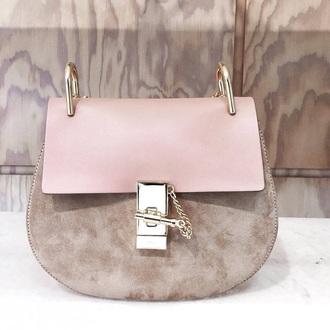 bag pink side bag grey