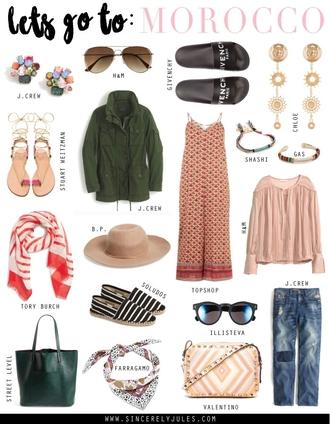 sincerely jules blogger jewels sunglasses shoes jacket jumpsuit scarf hat blouse bag jeans