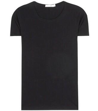 t-shirt shirt cotton t-shirt cotton black top