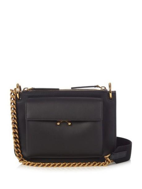 MARNI cross bag leather black