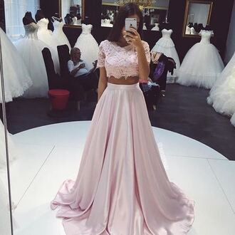 dress wedding prom lace dress lace skirt clothes top wedding clothes prom dress maxi dress two piece dress set