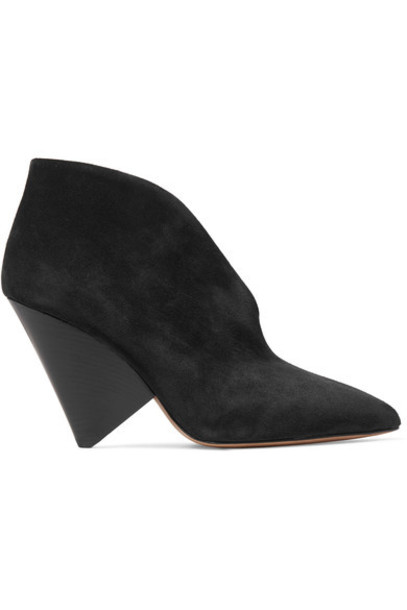 Isabel Marant suede ankle boots ankle boots suede black shoes