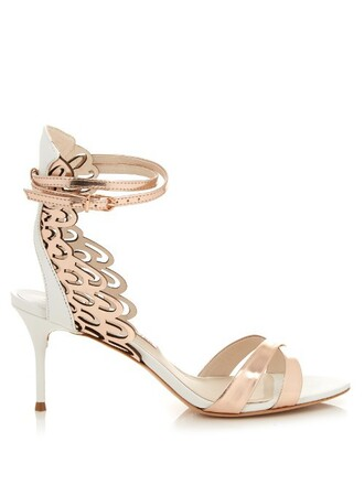 angel sandals leather sandals leather gold white shoes