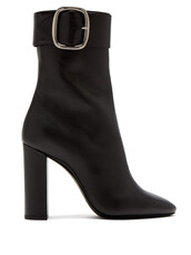 ankle boots,leather,black,shoes
