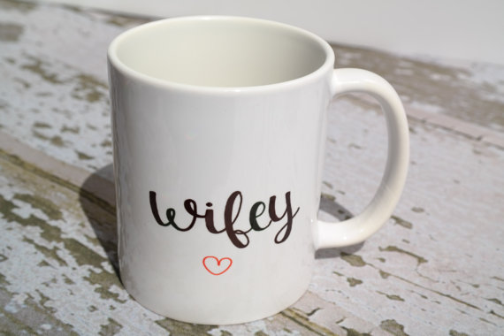 Wifey Coffee Mug | Mr and Mrs Mugs | Bride and Groom Mugs | Wedding Registry | Bridal Shower Gift | Wedding Gift | Gift for the Bride