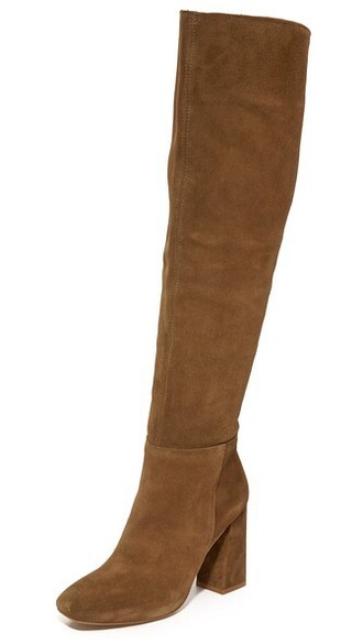 over the knee boots liberty taupe shoes