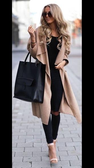 bag black bag coat