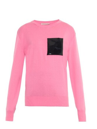 sweater leather pink