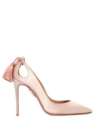 forever pumps satin beige shoes