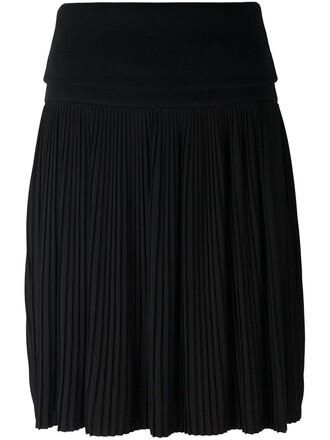 skirt knee length skirt pleated black