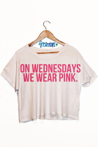 421abcaf88a9 Oversized Crop Top T-Shirt Mean Girls On Wednesdays We Wear ...