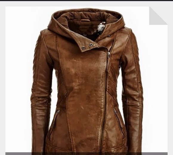 jacket brown summer winter spring fall fashion leather leather jacket