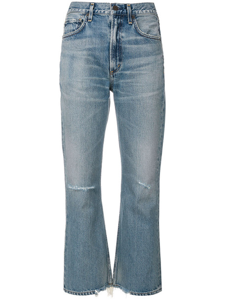 CITIZENS OF HUMANITY jeans women ripped cotton blue