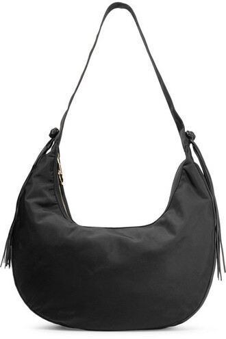 shell bag shoulder bag leather black