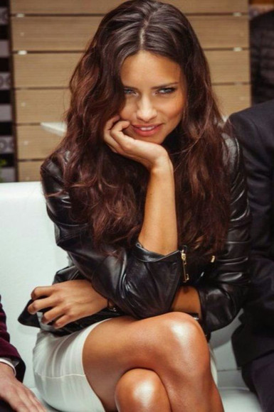dress white black beautiful jacket adriana lima leather leather jacket leather black perfecto perfecto