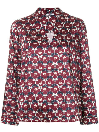 top women floral red