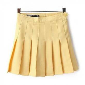 skirt yellow cute fashion style trendy girly summer spring boogzel