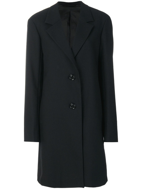 Lemaire coat oversized women black wool