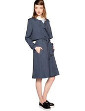 trench coat,navy trench coat,fall outfits,fall trends,transitional pieces,prefall,pixie market,pixie market girl