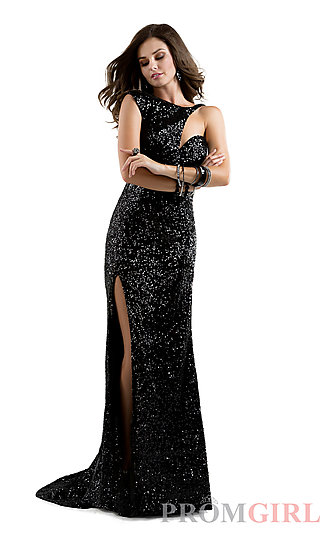 Prom Dresses, Celebrity Dresses, Sexy Evening Gowns - PromGirl: Long One Shoulder Sequin Dress