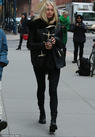 coat elsa hosk duffle coat