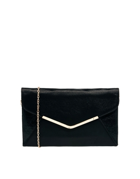 Dune | Dune Black Besta Clutch Bag at ASOS
