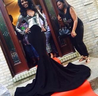 dress black dress metallic dress prom gown prom dress long sleeve dress long dress prom dress 2015