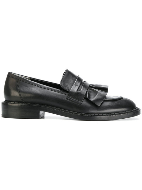Robert Clergerie women loafers leather black shoes
