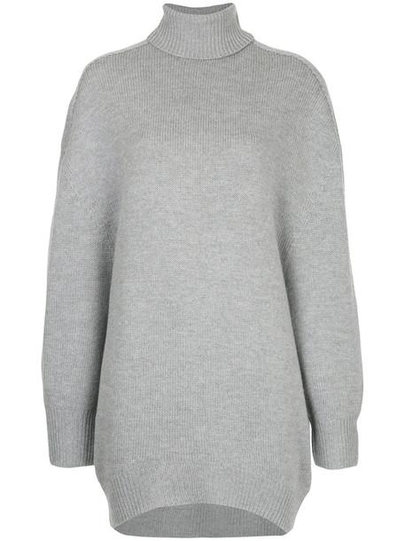 Astraet jumper turtleneck women wool grey sweater