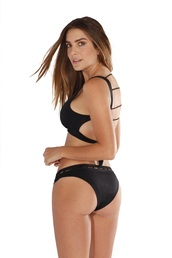 swimwear,peixoto swimwear,black bikini,black swimwear