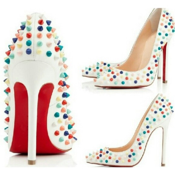 shoes christian louboutin christian real leather colorful