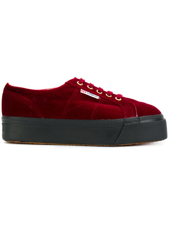 women sneakers cotton velvet red shoes