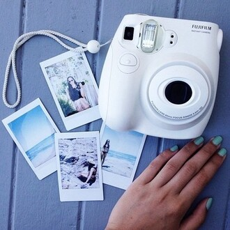 white camera photography technology home accessory belt jewels sweater earphones hair accessory polaroid camera sweet pants cool shirts camera fujifilm instant camera tumblr black framed pictures old picture love fujifilm phone cover