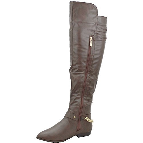 Casey chain boot brown