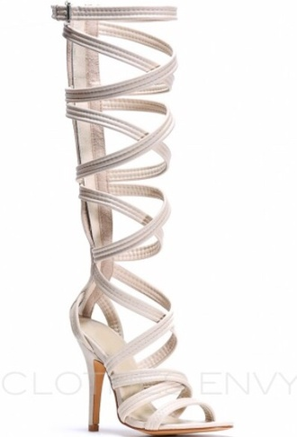 shoes gladiator sandals high heels pumps gladiator heels strappy heels fashion style shopaholic followme khaki heels knee high heels strappy sandals tan heels