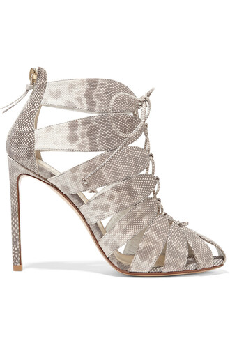 sandals lace snake print snake print shoes