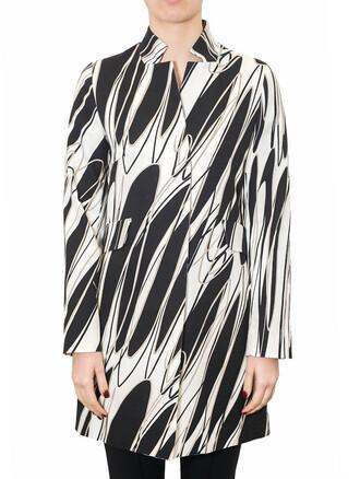 overcoat geometric cotton pattern multicolor coat