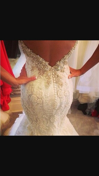 dress fitted wedding dress lace wedding dress wedding dress backless wedding dress