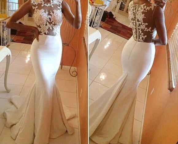 sexy dress prom dress evening dress evening gowns mermaid dress satin dress elastic satin dress lace prom dress tulle dress white prom wedding dress bridal gowns