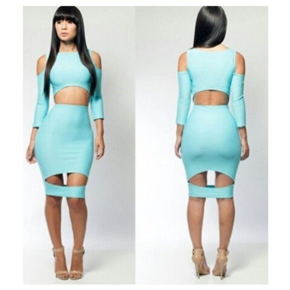 cute mint dress sexy cutw fly appealingboutique bodycon dresses