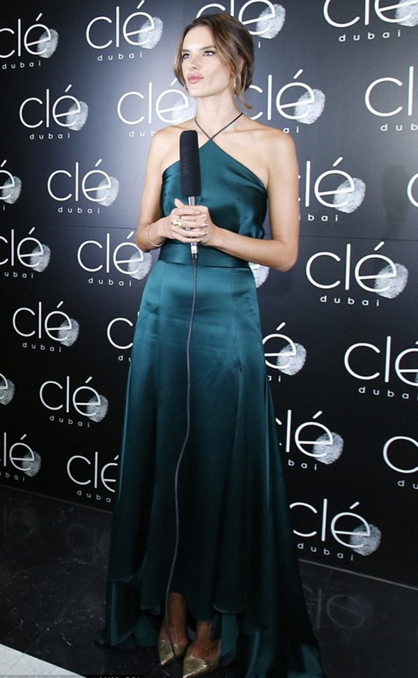 dress alessandra ambrosio maxi dress prom dress forest green