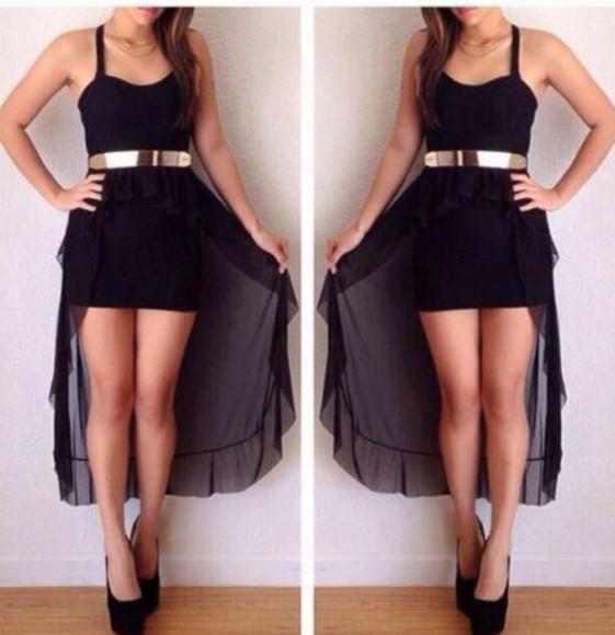 high-low dresses tight short gold belt gold belt dress spagetti staps dresses
