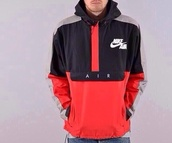 jacket,nike,nike air,sportswear,red,black,white,menswear,mens jacket,windbreaker