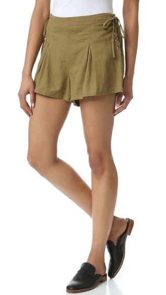 shorts silver green
