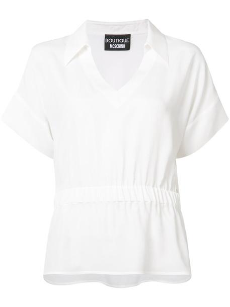 BOUTIQUE MOSCHINO shirt women white silk top
