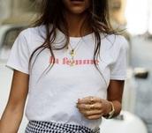 shirt,white,la femme,t-shirt,streetstyle,streetwear