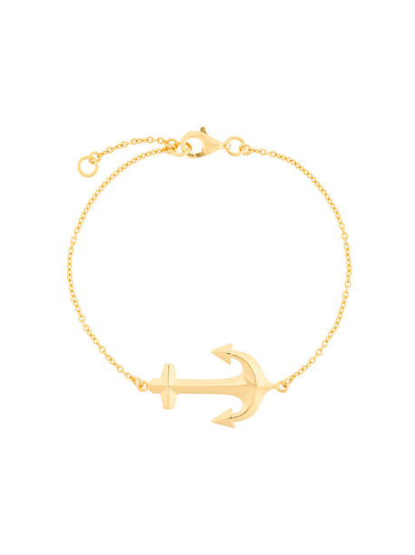 True Rocks anchor bracelet anchor women gold grey metallic jewels